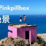 PINK PILL BOX   ピンクピルボックスは トレッキングも大変ですが ボックスの上に上がるのも これまた大変です〜!