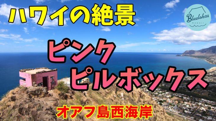 【ハワイの絶景】オアフ島西海岸のピンク・ピルボックス